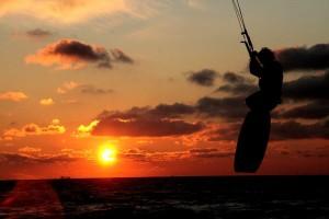imagen de kitesurf
