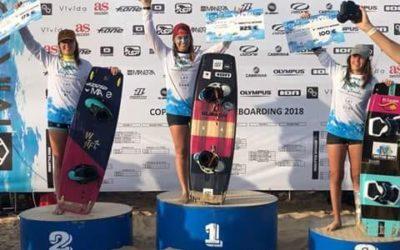 Jóvenes talentos del kitesurf español